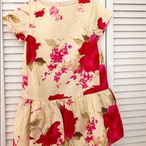 Crewcuts floral dress girls size 5 NWT